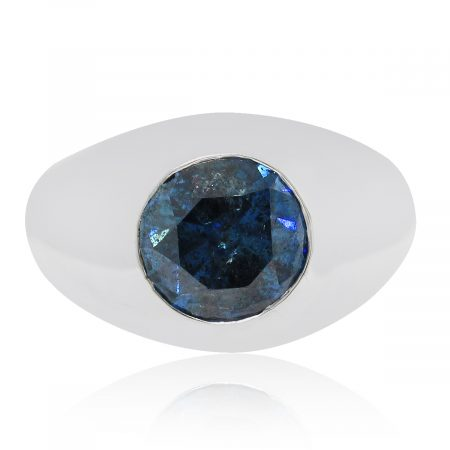 blue diamond mens ring
