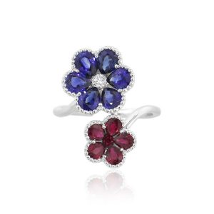 Sapphire Ruby Ring