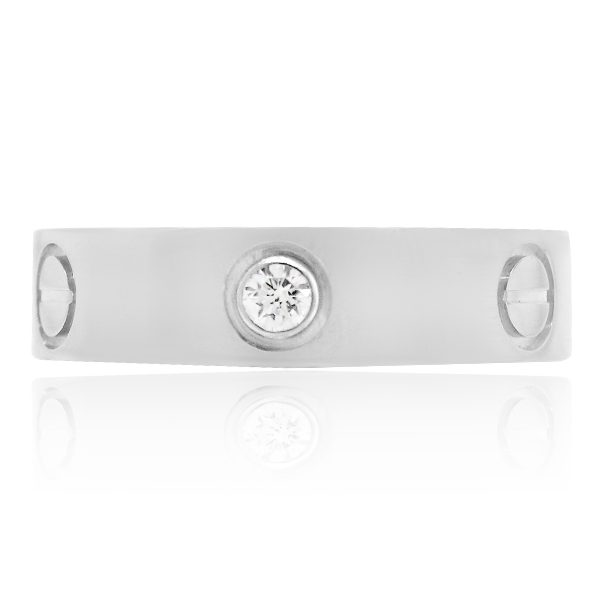White gold Cartier love ring