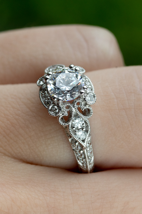 Victorian style engagement rings boca raton