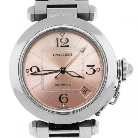 Cartier Pasha Stainless Steel Pink Dial