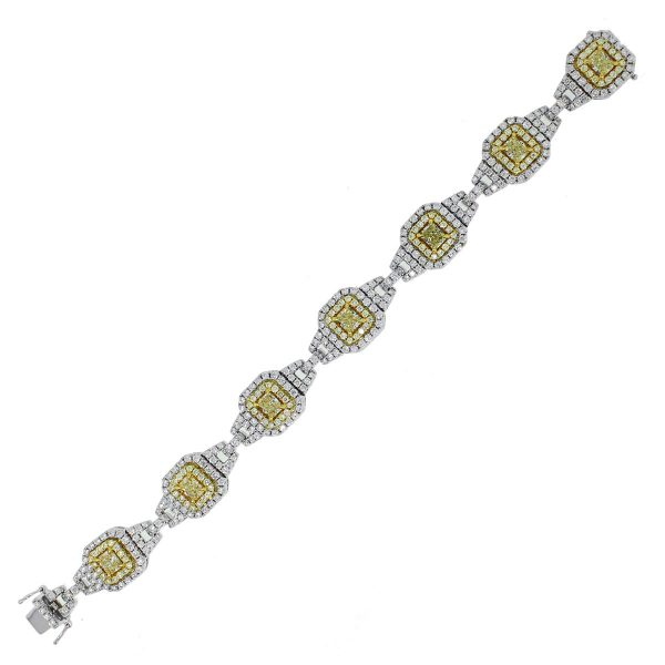Two Tone Diamond Link Bracelet