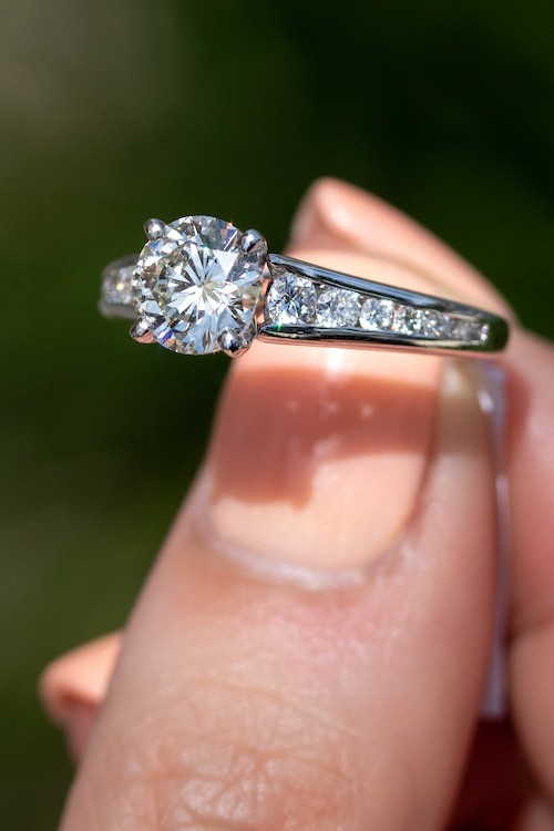 pros and cons of a channel set diamond engagement ring