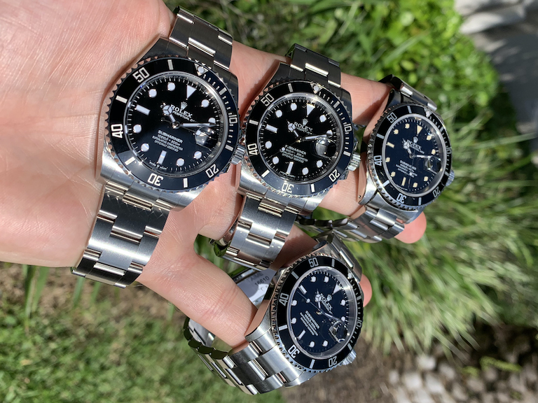generations of the stainless steel black dial submariner