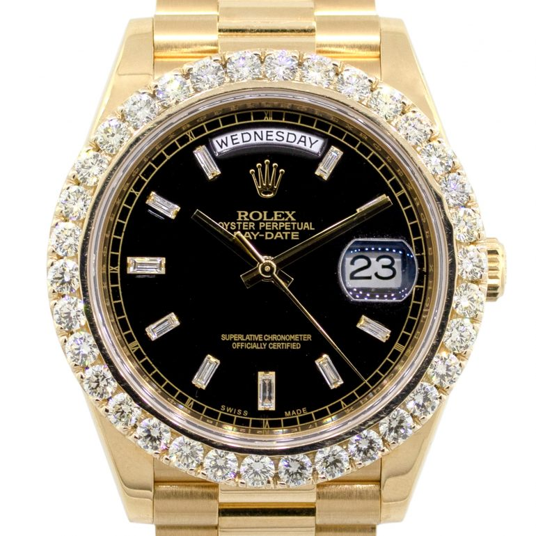 iced out rolex president