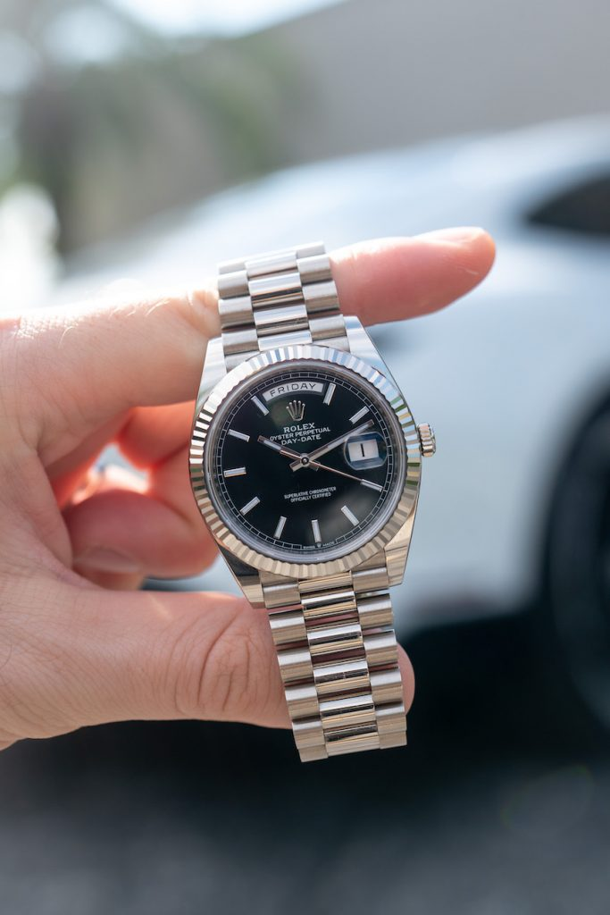 rolex day date black dial president