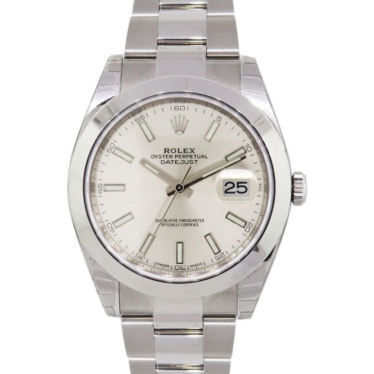 Rolex 126300 Stainless Steel Silver Dial Wrist Watch