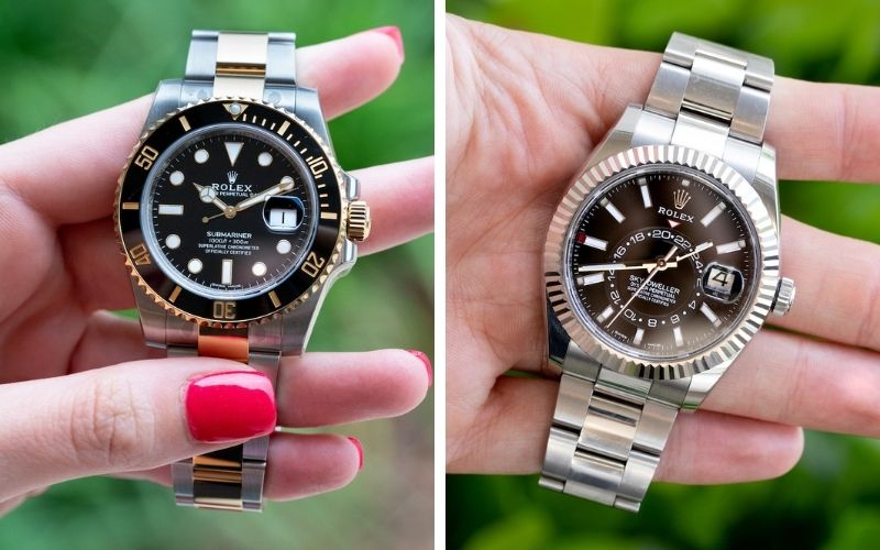 Rolex Submariner or sky-dweller