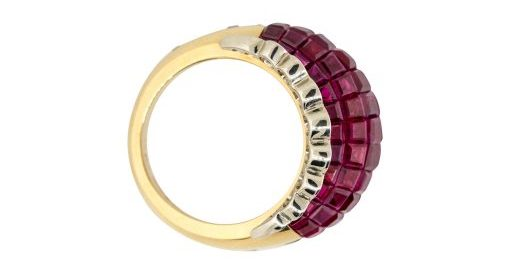 ruby domed ring