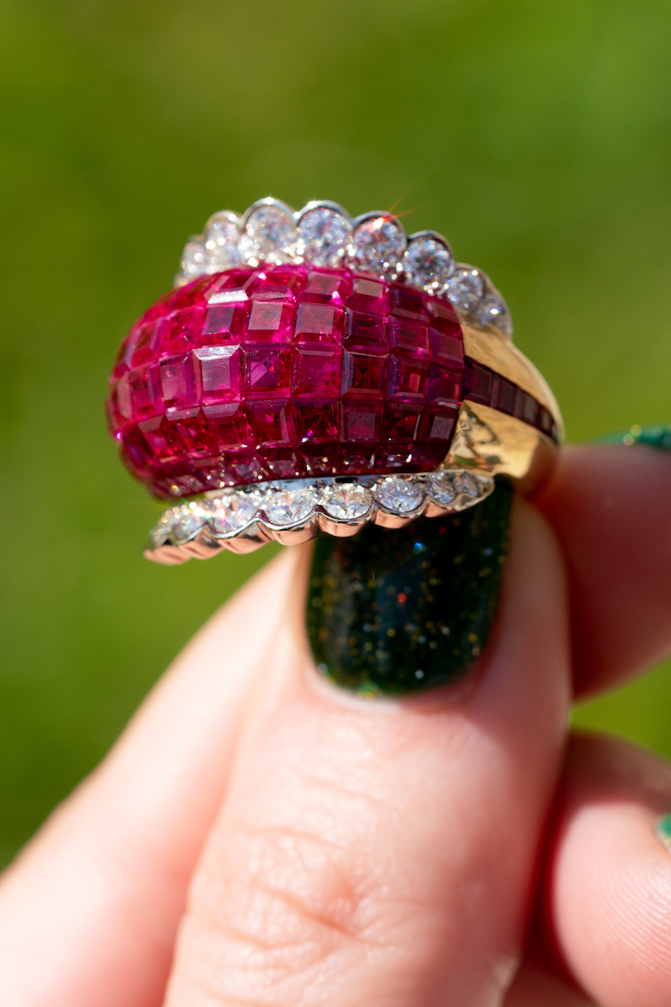 are ruby rings in style