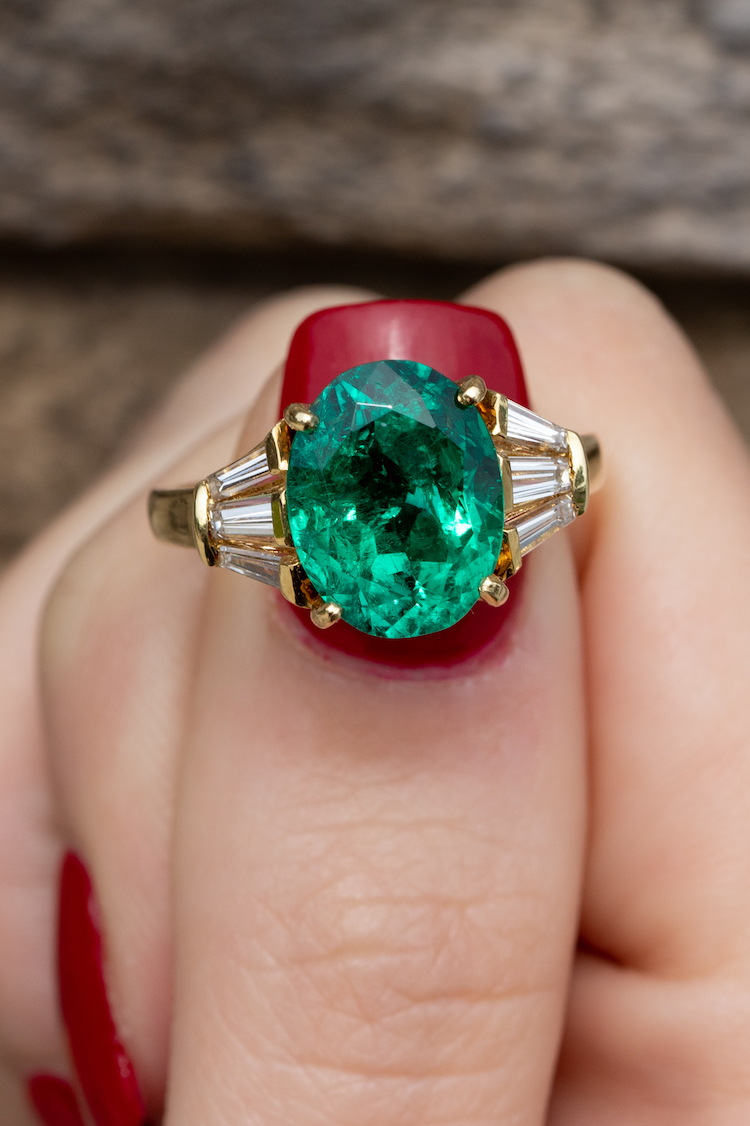 precious gemstone rings with diamonds