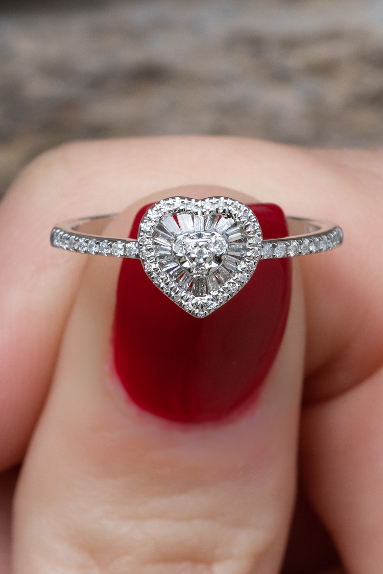 heart shaped ring designs