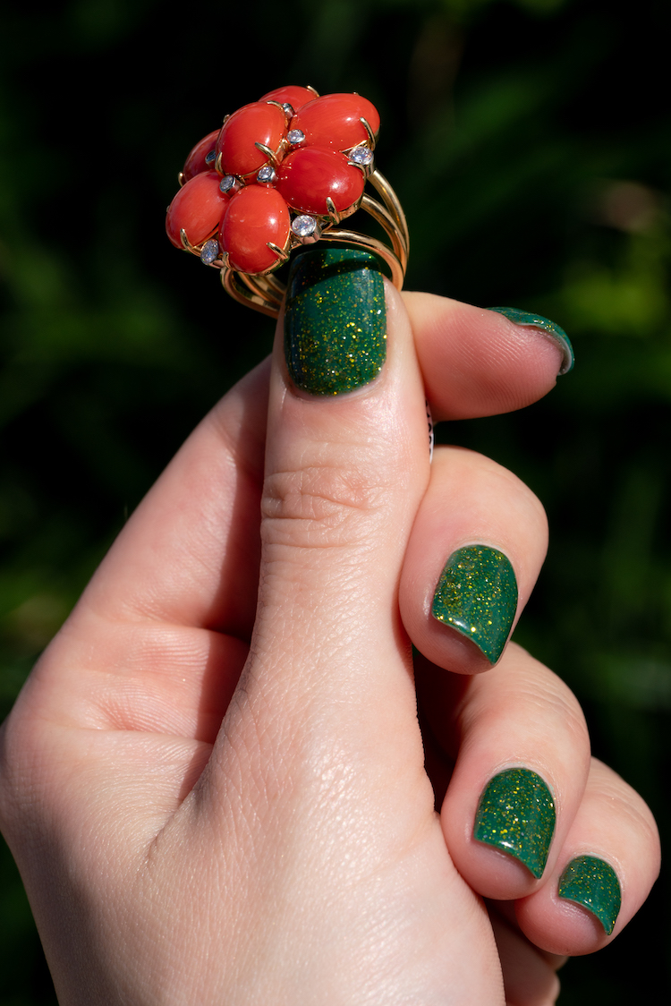 red coral rings