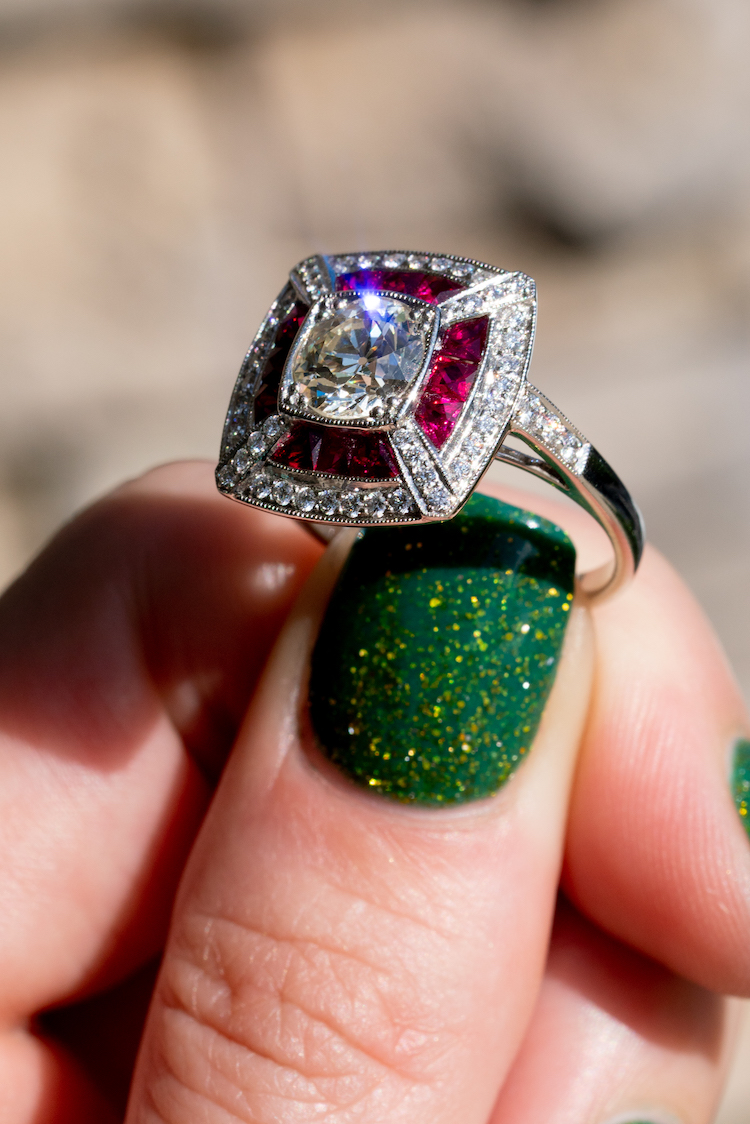 rings with rubies and diamonds