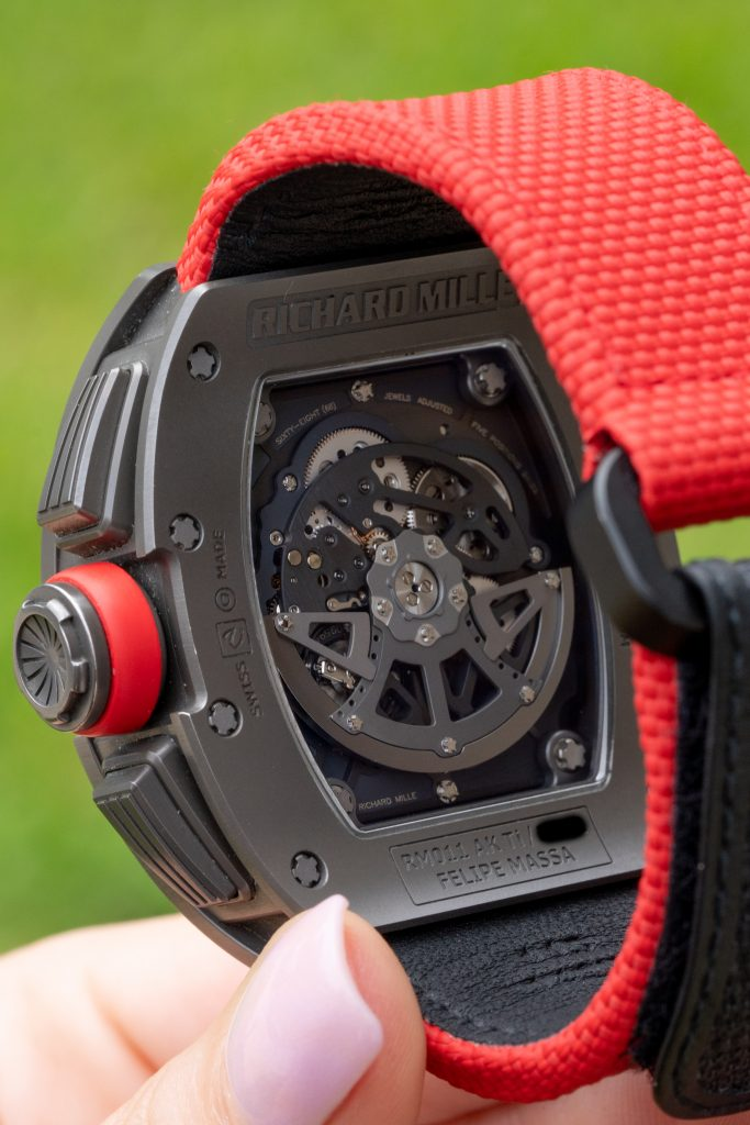 Richard Mille with a distinctive case