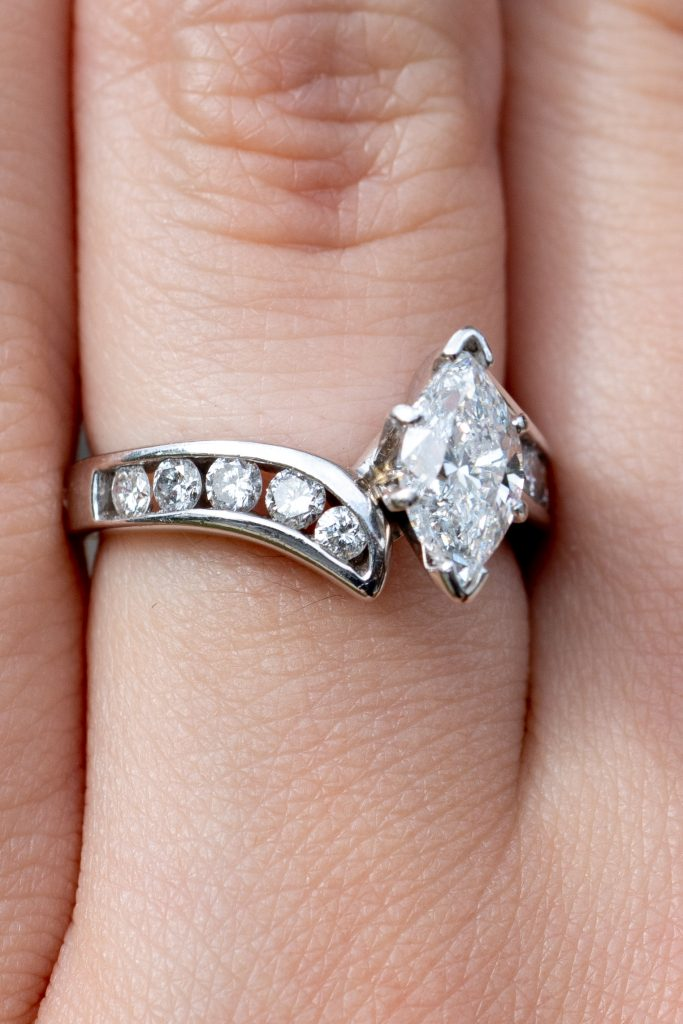 Marquise-shaped rings