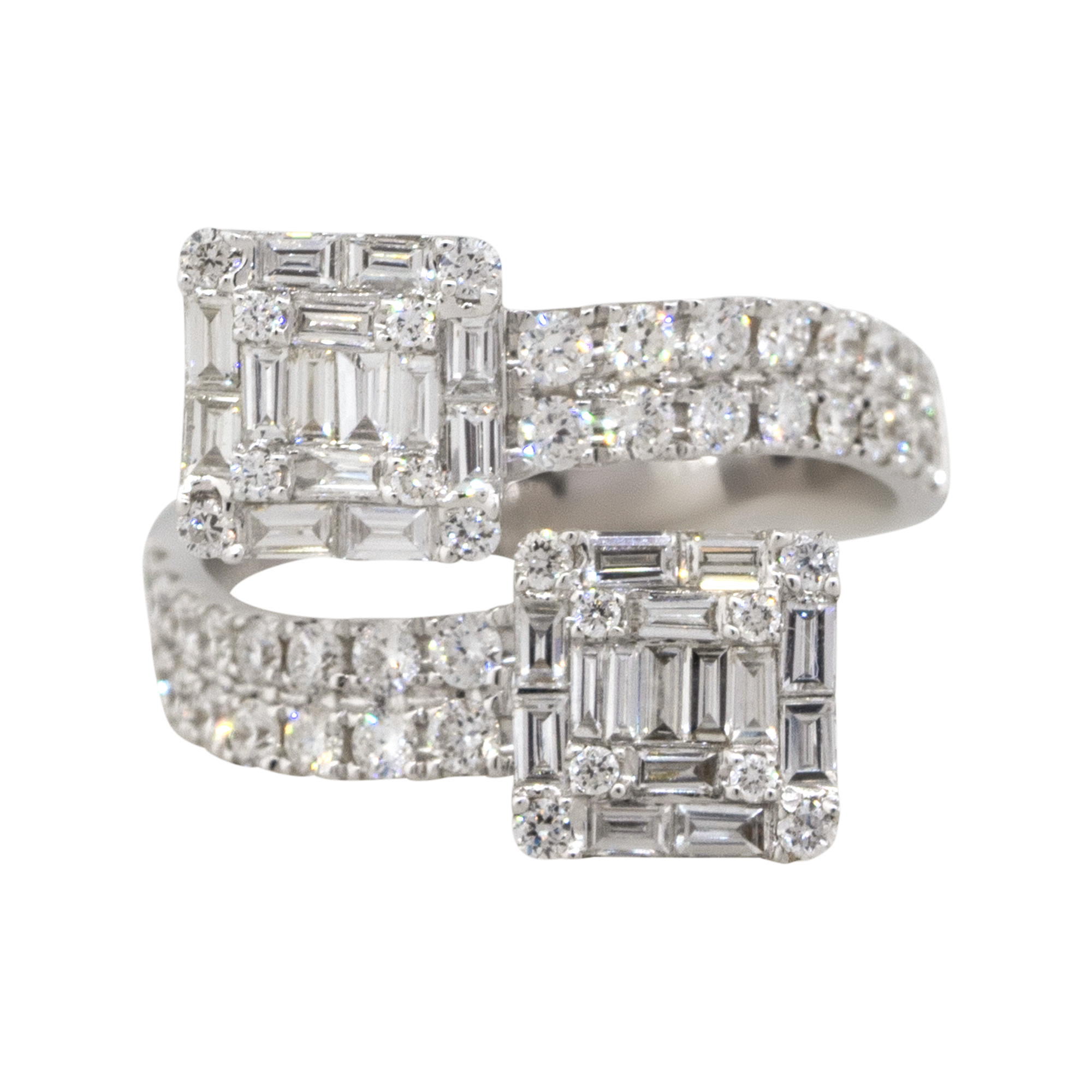 white gold overpass ring